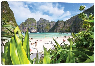 The Beach, Phi Phi island, Thailand Canvas Art Print