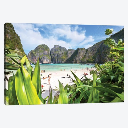 The Beach, Phi Phi island, Thailand Canvas Print #TEO519} by Matteo Colombo Canvas Artwork
