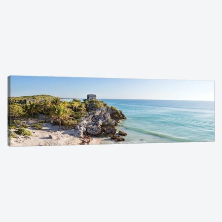 The Ruins Of Tulum, Mexico I Canvas Print #TEO525} by Matteo Colombo Canvas Artwork