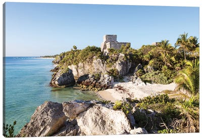 The Ruins Of Tulum, Mexico II Canvas Art Print