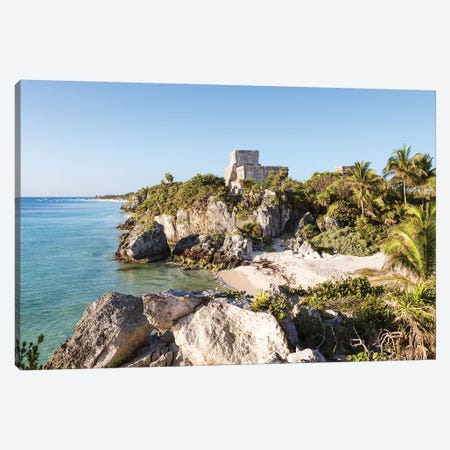 The Ruins Of Tulum, Mexico II Canvas Print #TEO526} by Matteo Colombo Canvas Art