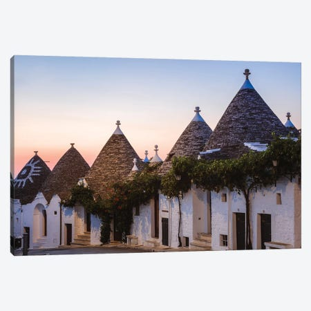 Trulli Houses, Apulia, Italy I Canvas Print #TEO530} by Matteo Colombo Canvas Art