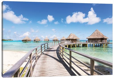 Water Villas, French Polynesia Canvas Art Print