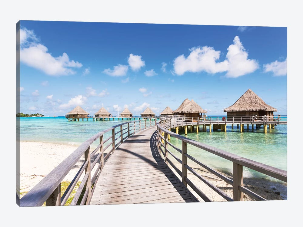 Water Villas, French Polynesia by Matteo Colombo 1-piece Canvas Art