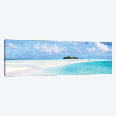 Aitutaki Lagoon Panoramic, Cook Islands Canvas Print #TEO536} by Matteo Colombo Canvas Art Print