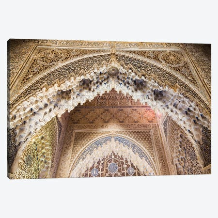 Arabesques In The Alhambra, Granada, Spain Canvas Print #TEO537} by Matteo Colombo Canvas Print