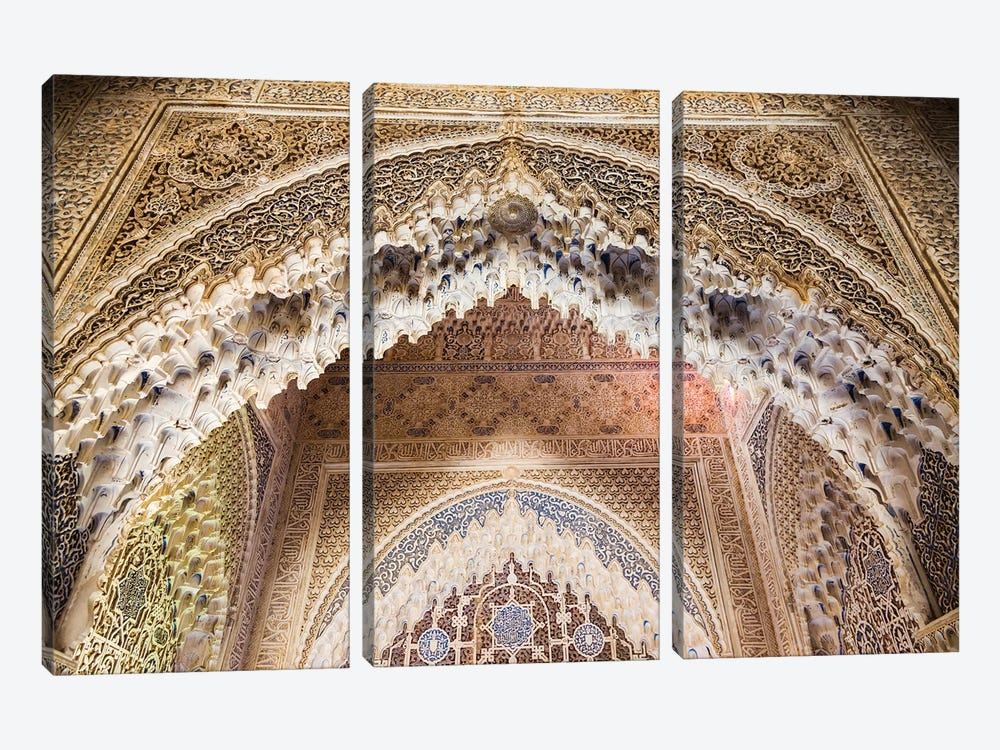 Arabesques In The Alhambra, Granada, Spain by Matteo Colombo 3-piece Canvas Artwork