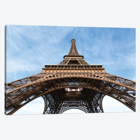 Low Angle View Of Eiffel Tower, Paris, Ile-de-France, France Canvas Print #TEO53} by Matteo Colombo Art Print