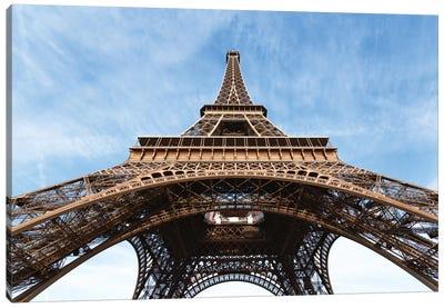 Low Angle View Of Eiffel Tower, Paris, Ile-de-France, France Canvas Print #TEO53