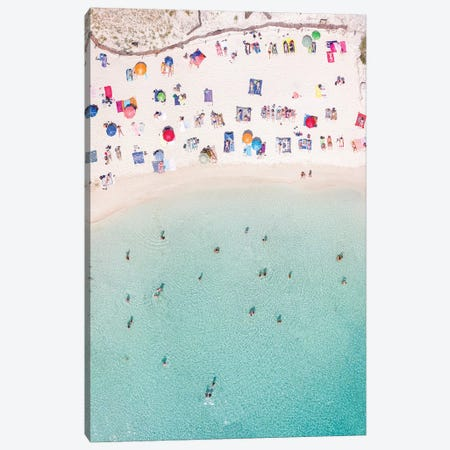 Beach Crowded In Summer, Spain Canvas Print #TEO541} by Matteo Colombo Canvas Art Print
