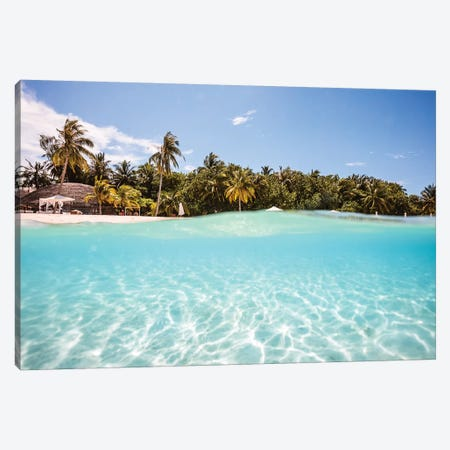 Beach Underwater, Maldives Canvas Print #TEO542} by Matteo Colombo Canvas Art Print