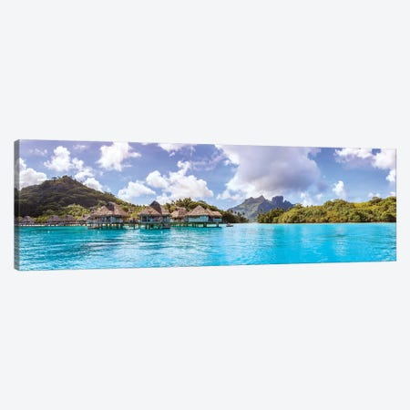 Bora Bora Panorama, French Polynesia Canvas Print #TEO544} by Matteo Colombo Canvas Wall Art