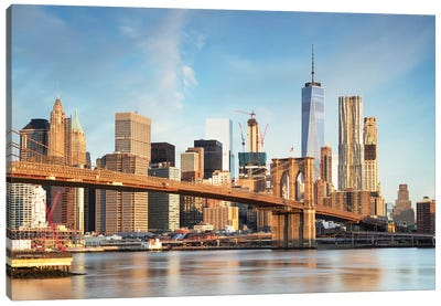 Brooklyn Bridge And Manhattan Skyline I Canvas Art Print
