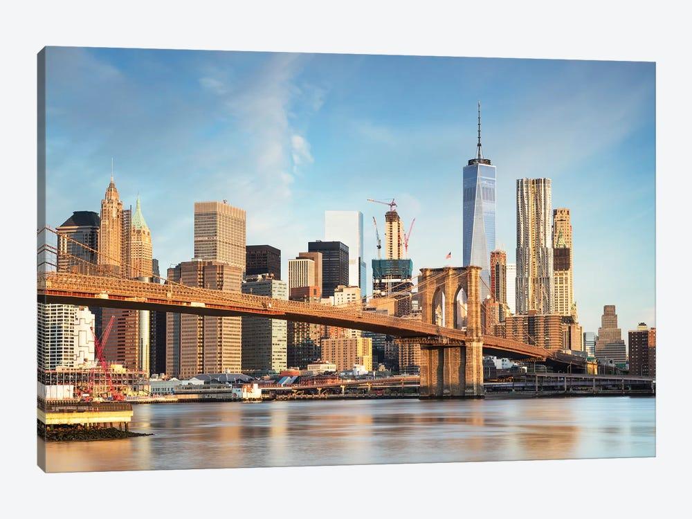 Brooklyn Bridge And Manhattan Skyline I by Matteo Colombo 1-piece Canvas Print