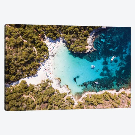 Cala Turqueta Beach, Menorca Canvas Print #TEO554} by Matteo Colombo Canvas Print