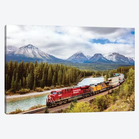 Canadian Pacific Railway, Alberta Canvas Print #TEO555} by Matteo Colombo Canvas Print