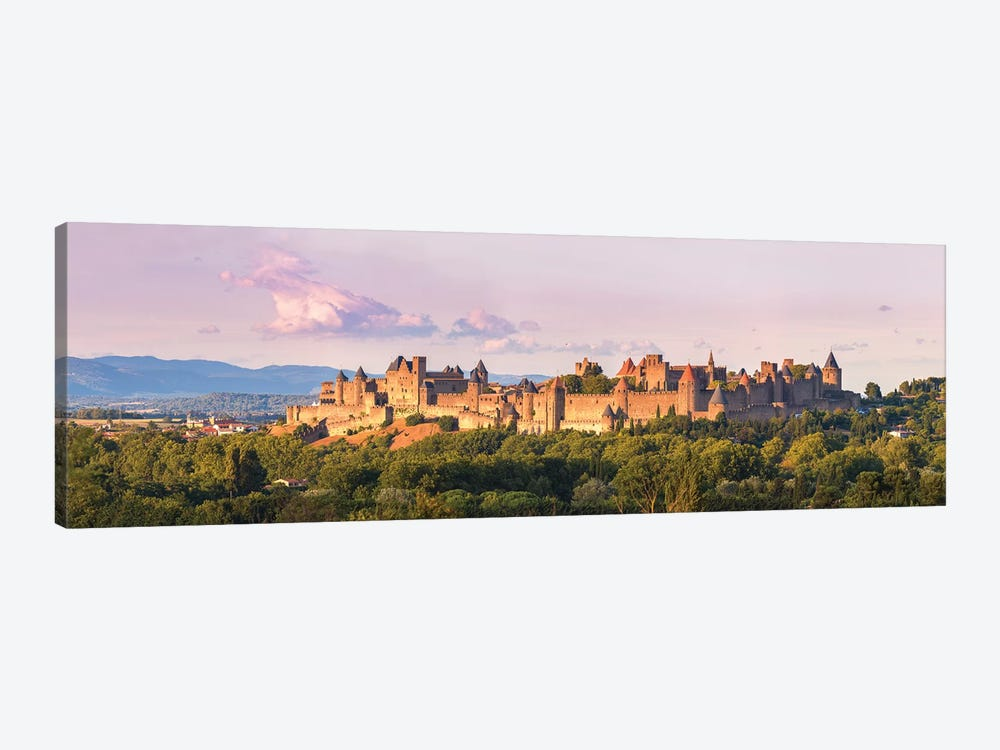 Carcassonne Panoramic, France by Matteo Colombo 1-piece Canvas Art