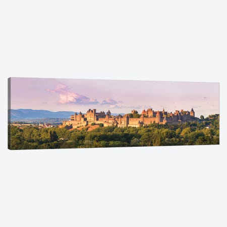 Carcassonne Panoramic, France Canvas Print #TEO557} by Matteo Colombo Canvas Art Print