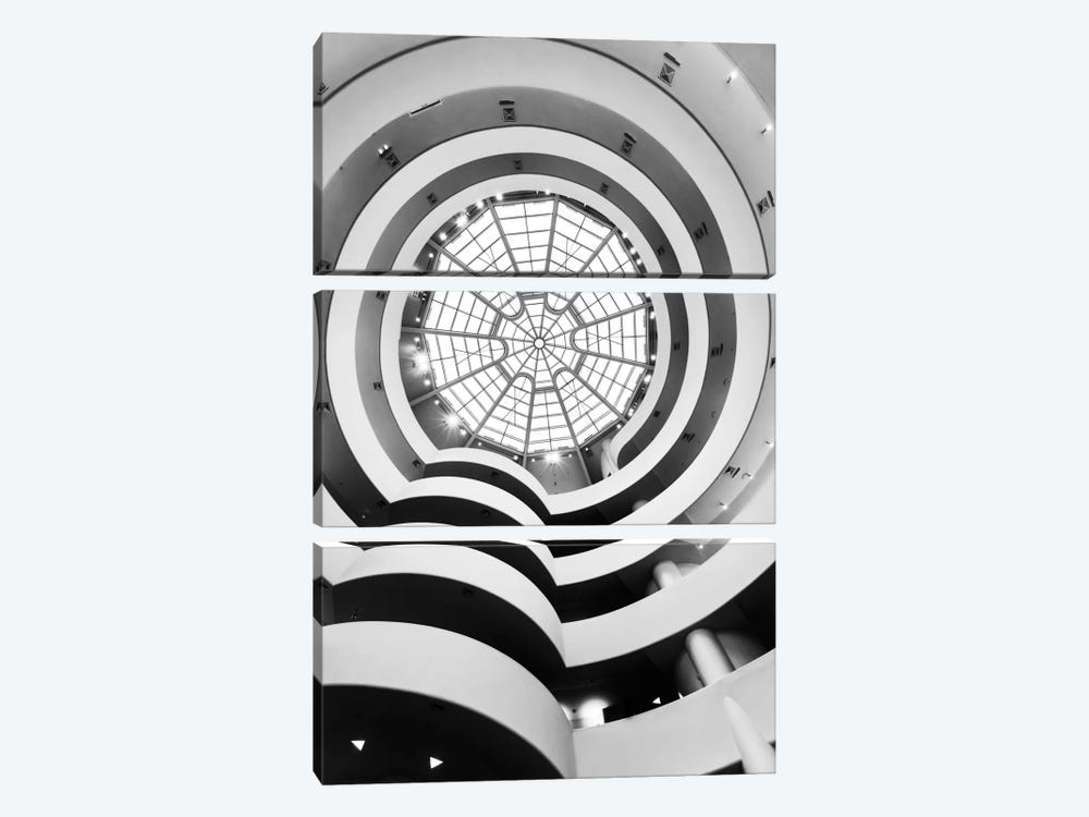 Main Gallery Skylight, Solomon R. Guggenheim Museum, New York City, New York, USA 3-piece Canvas Wall Art