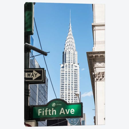Chrysler Building, New York City Canvas Print #TEO562} by Matteo Colombo Canvas Print