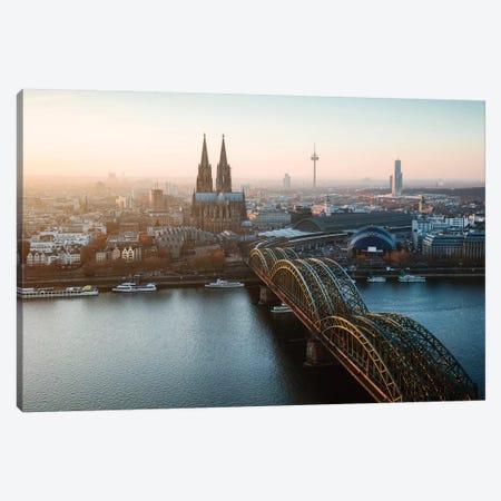 Cologne Skyline, Germany I Canvas Print #TEO563} by Matteo Colombo Art Print