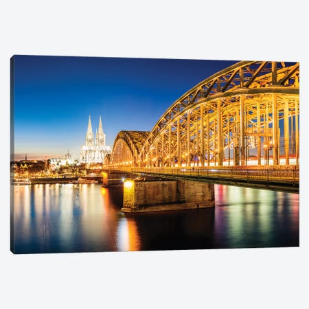 Cologne Skyline, Germany III Canvas Print #TEO565} by Matteo Colombo Canvas Artwork