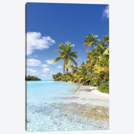 Dream Beach On One Foot Island, Cook Islands Canvas Print #TEO570} by Matteo Colombo Canvas Artwork