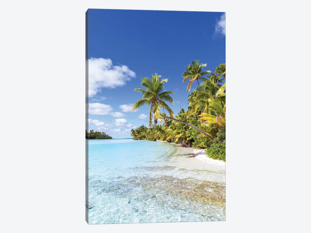 Dream Beach On One Foot Island, Cook Islands by Matteo Colombo 1-piece Canvas Art Print