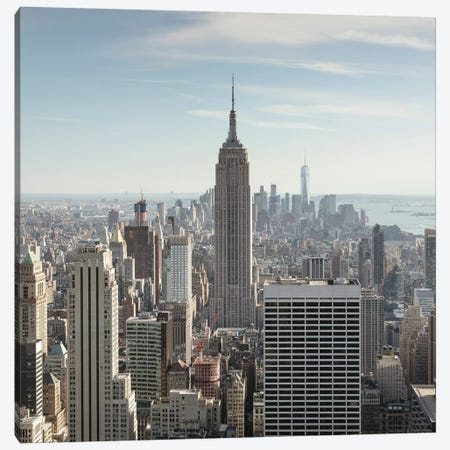 Empire State And New York City Skyline Canvas Print #TEO571} by Matteo Colombo Canvas Art