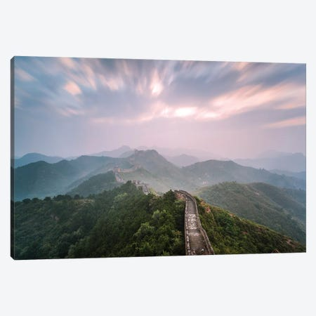 First Light Over The Great Wall Of China I Canvas Print #TEO572} by Matteo Colombo Canvas Artwork