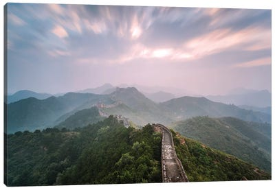 First Light Over The Great Wall Of China I Canvas Art Print