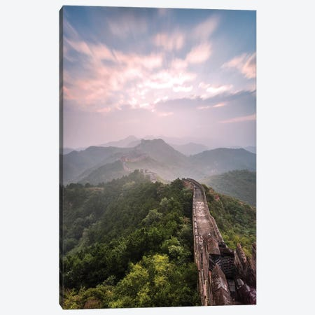 First Light Over The Great Wall Of China II Canvas Print #TEO573} by Matteo Colombo Canvas Art