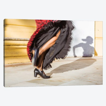 Flamenco Dancer In Seville, Andalusia, Spain 3-Piece Canvas #TEO574} by Matteo Colombo Canvas Art Print
