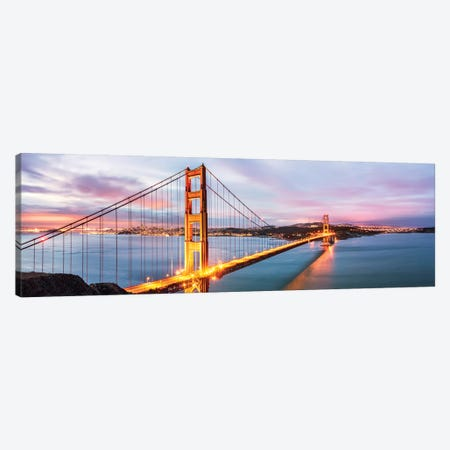Golden Gate Bridge At Dawn, San Francisco Canvas Print #TEO576} by Matteo Colombo Art Print