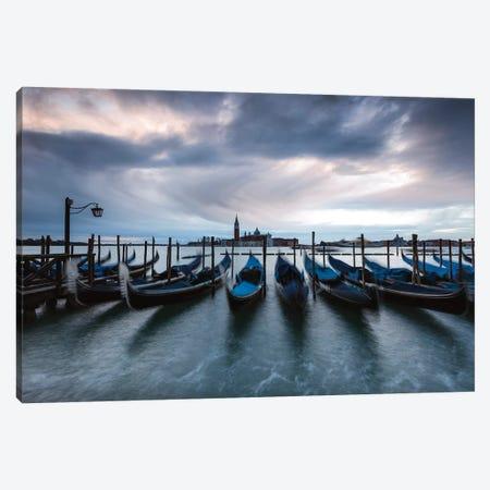 Gondolas, Venice, Italy Canvas Print #TEO578} by Matteo Colombo Canvas Artwork