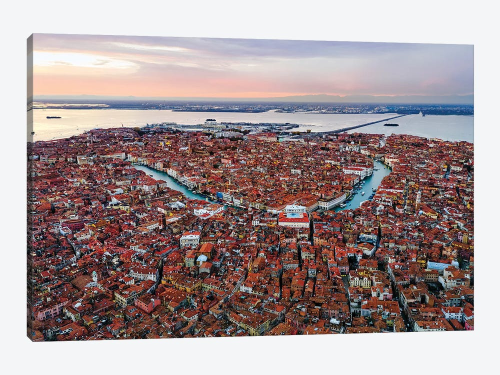 Grand Canal Aerial, Venice I by Matteo Colombo 1-piece Canvas Wall Art