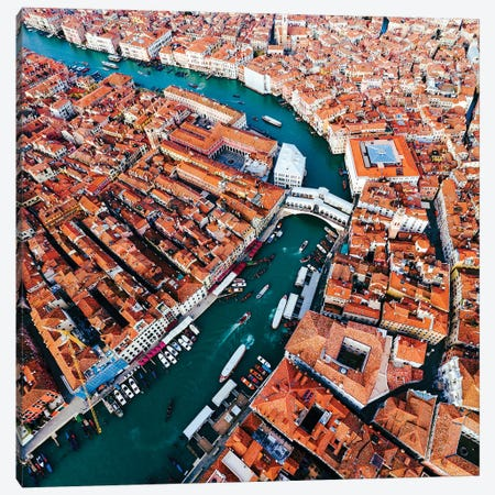 Grand Canal Aerial, Venice II Canvas Print #TEO580} by Matteo Colombo Canvas Print