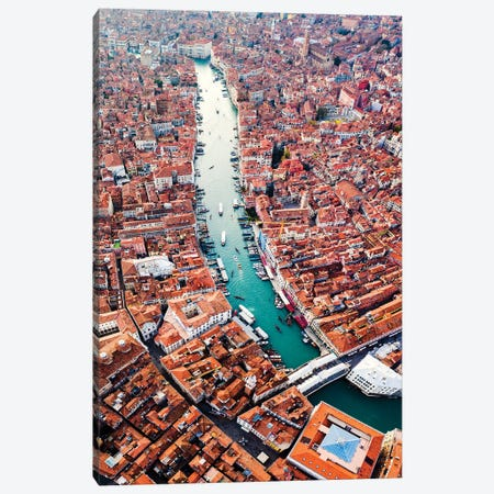Grand Canal Aerial, Venice III Canvas Print #TEO581} by Matteo Colombo Art Print