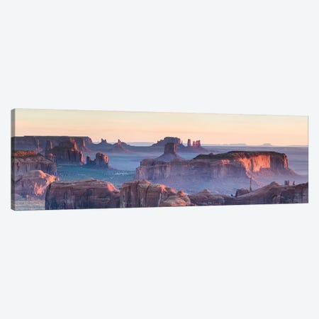 Hunt's Mesa Panoramic, Monument Valley II Canvas Print #TEO586} by Matteo Colombo Canvas Artwork