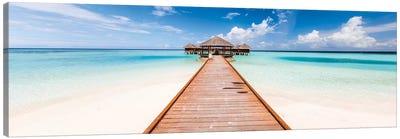 Jetty On A Tropical Island, Maldives Canvas Art Print