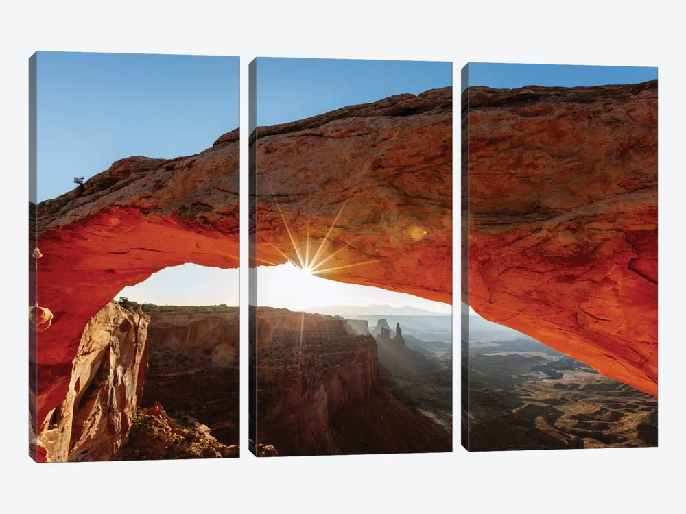 Mesa Arch At Sunrise II, Canyonlands National Park, Utah, USA by Matteo Colombo 3-piece Canvas Art Print