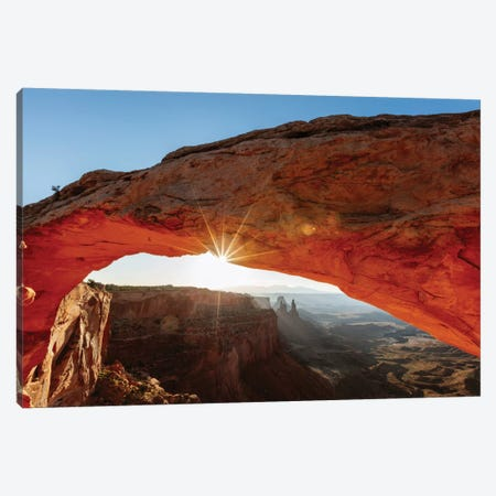 Mesa Arch At Sunrise II, Canyonlands National Park, Utah, USA Canvas Print #TEO58} by Matteo Colombo Canvas Art Print