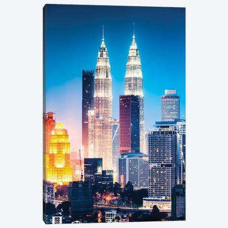 Kuala Lumpur Skyline, Malaysia V Canvas Print #TEO590} by Matteo Colombo Canvas Wall Art