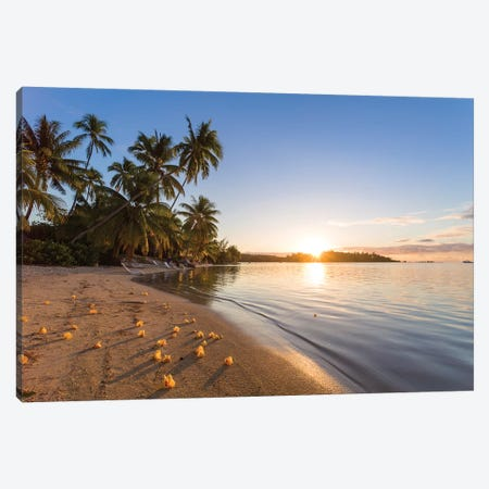 Last Light On Moorea, French Polynesia Canvas Print #TEO591} by Matteo Colombo Canvas Artwork
