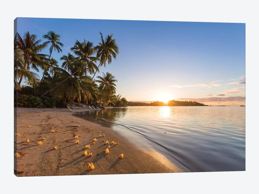 Last Light On Moorea, French Polynesia 1-piece Canvas Artwork