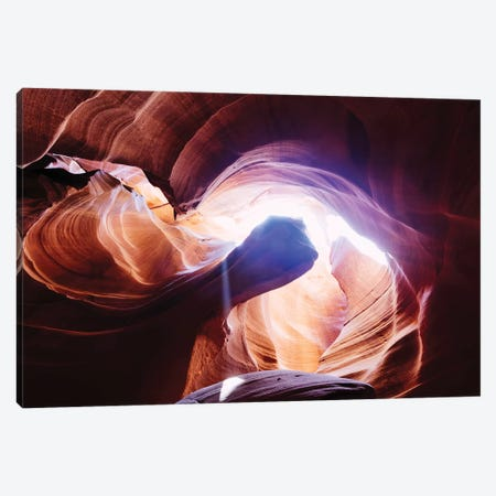 Light Well, Antelope Canyon Canvas Print #TEO595} by Matteo Colombo Canvas Art Print