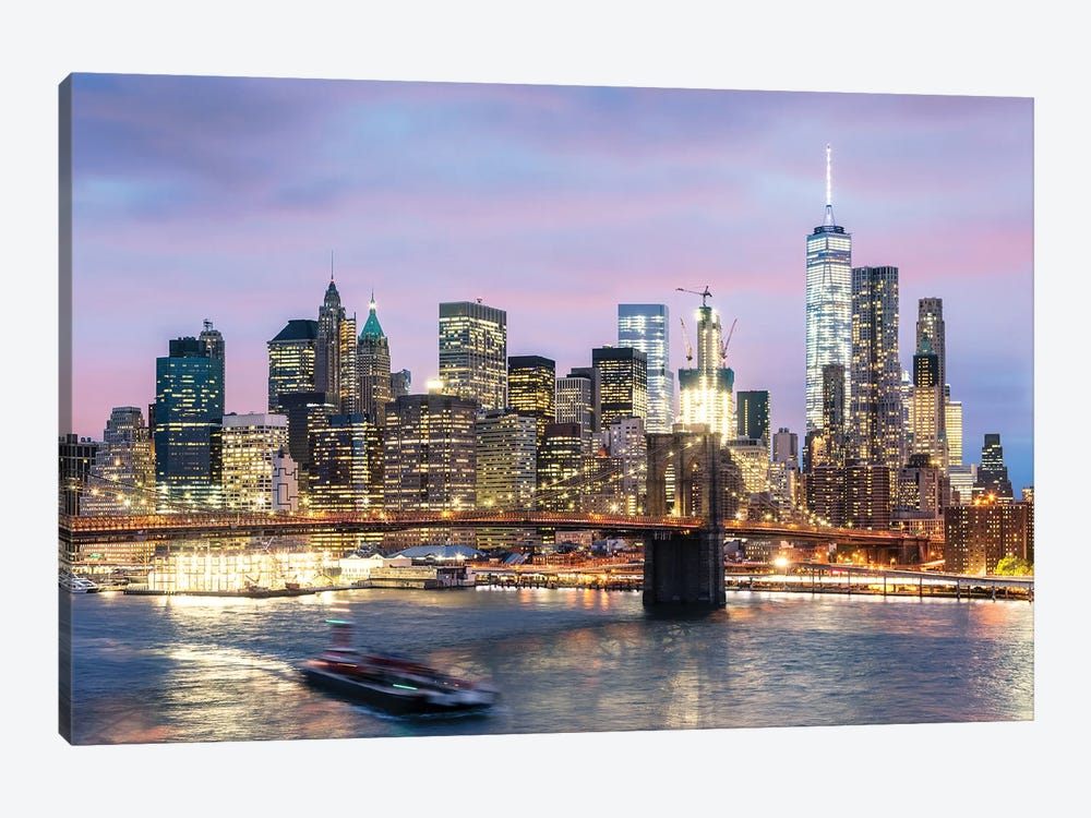 Manhattan At Dusk, New York City, USA by Matteo Colombo 1-piece Canvas Artwork