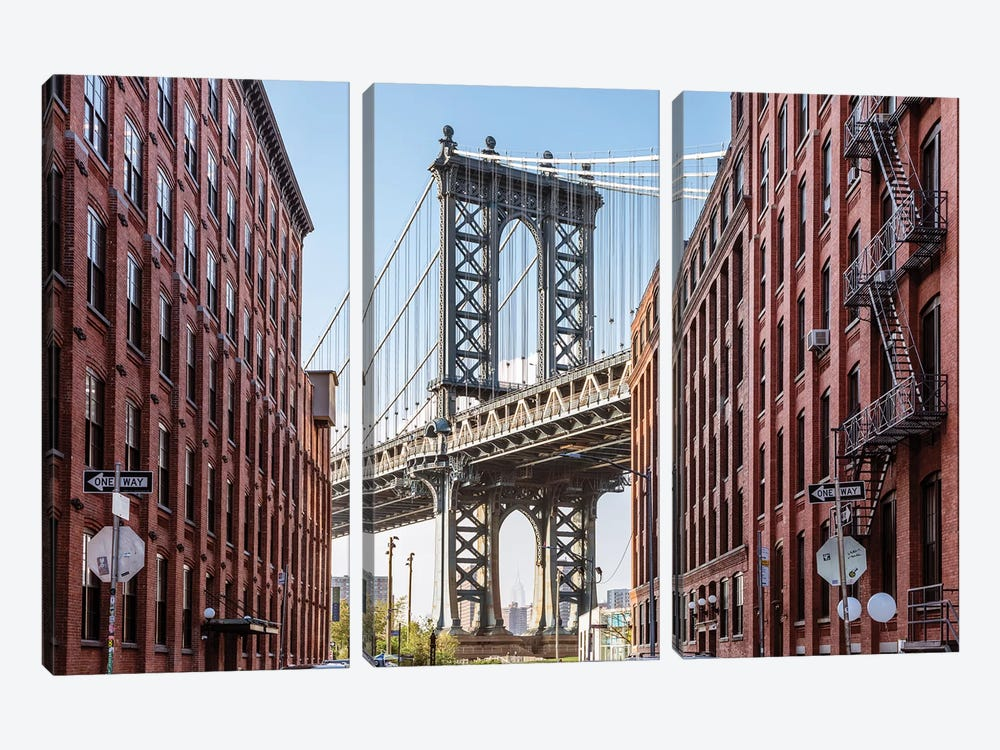 Manhattan Bridge, New York City by Matteo Colombo 3-piece Canvas Print