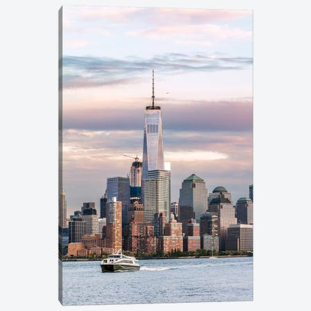 Manhattan Skyline From New Jersey Canvas Print #TEO599} by Matteo Colombo Canvas Art