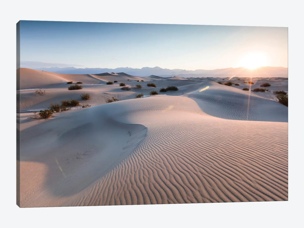 Mesquite Flat Sand Dunes At Sunrise, Death Valley, Death Valley National Park, California, USA by Matteo Colombo 1-piece Canvas Artwork